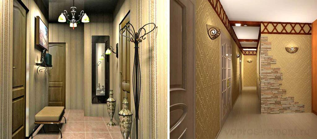 Ремонт узкого коридора дизайн 171